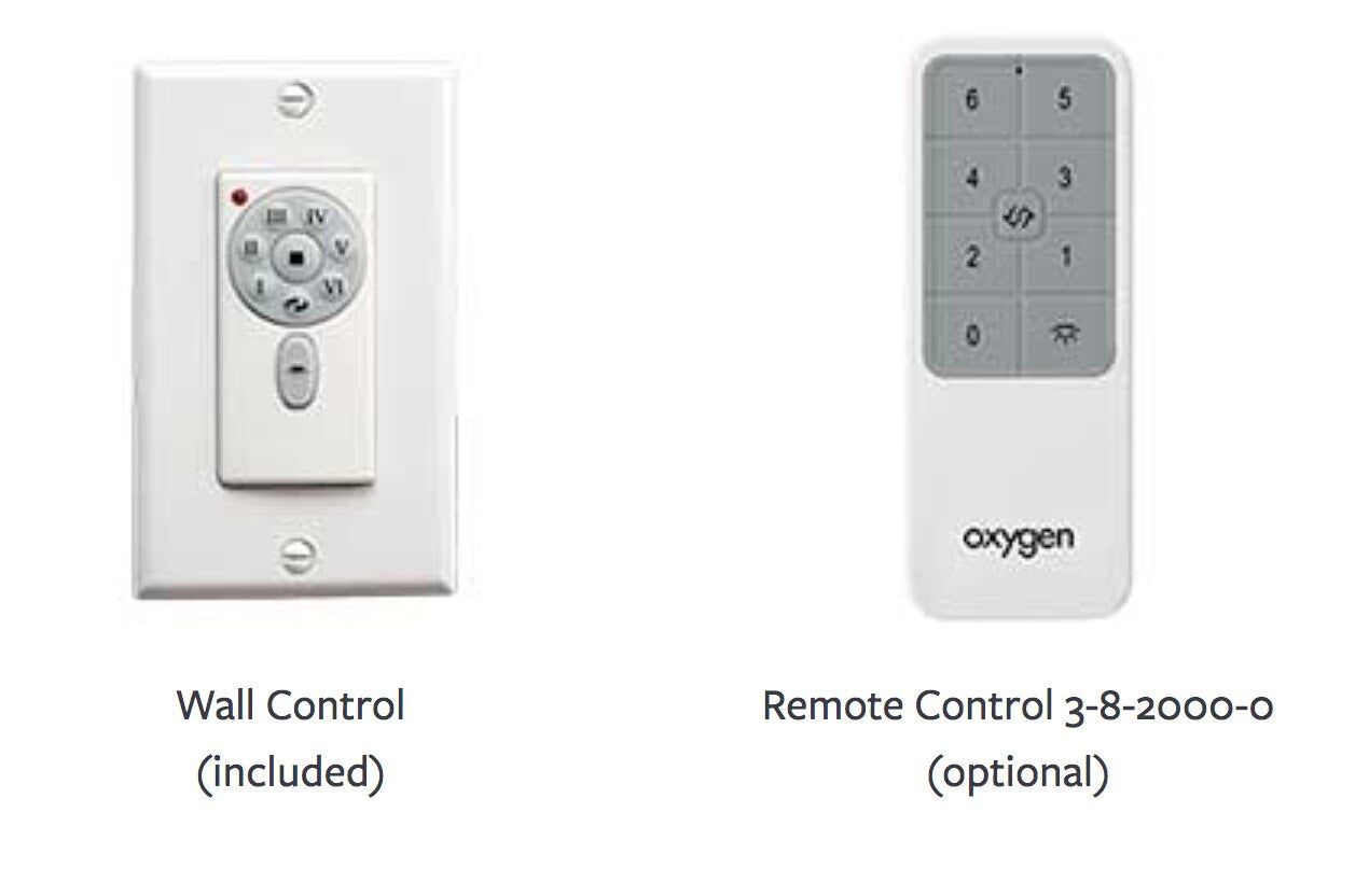 Oxygen Remote Controller and Wall Control