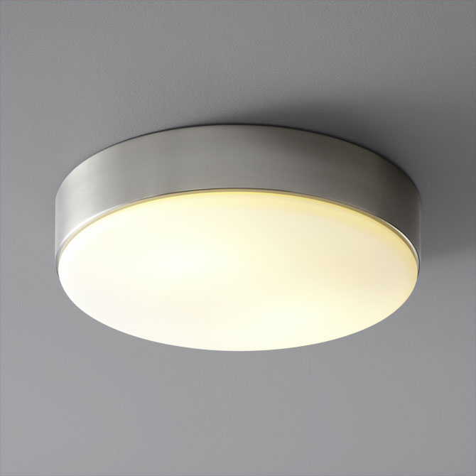 Oxygen Lighting 2-6114-24 Journey Flush Mount Ceiling Light - Satin Nickel