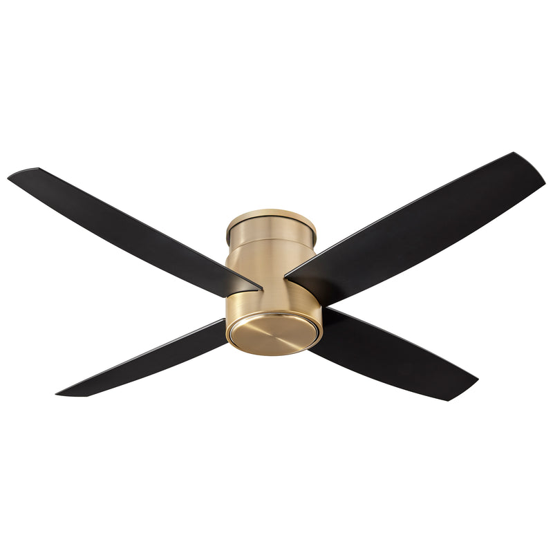 Oxygen Lighting Oslo Hugger 3-102-40 Ceiling Fan 52 inch - Aged Brass