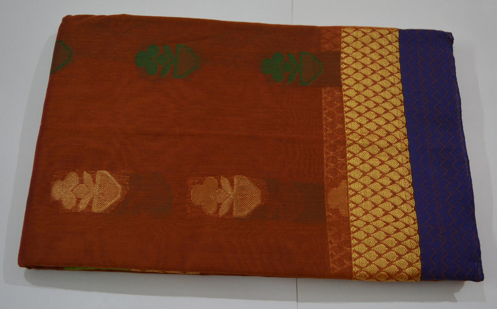 Sk organic farms online store handwoven honey color silk cotton saree with green contrast blouse thanjavur silk thanjavur slik solutioingenieria Image collections