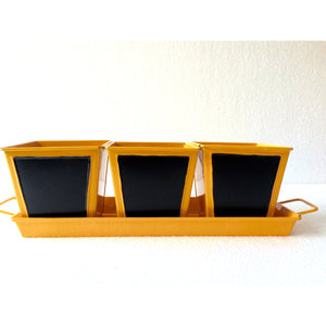 TABLE TOP TRAY WITH CHALK PAINT SET OF 3 - SK Organic Farms