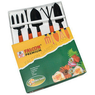 Premium Garden Tool 5 Pcs Set With Fixed Handle-Garden Tools-Falcon-SK Organic Farms