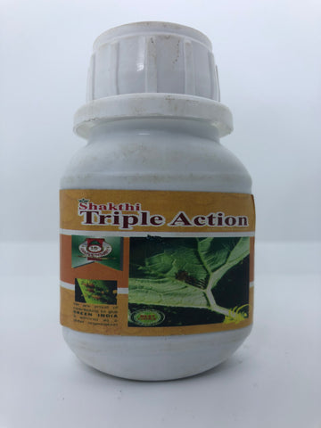 Triple Action- Organic Insecticide ( Kill Bugs , Virus and Fungi )-BIOLOGIAL INSECTICIDE-Sathyam Bio-SK Organic Farms