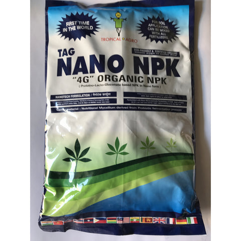 TAG NANO NPK - 4G NANO FERTILISER - Granuals-4G NANO FERTILISER-Tropical Agro-1 kg-SK Organic Farms