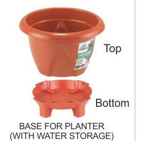 Unbreakable Planters - Brown-Planter-Action Ware-5 lit-Brown-SK Organic Farms