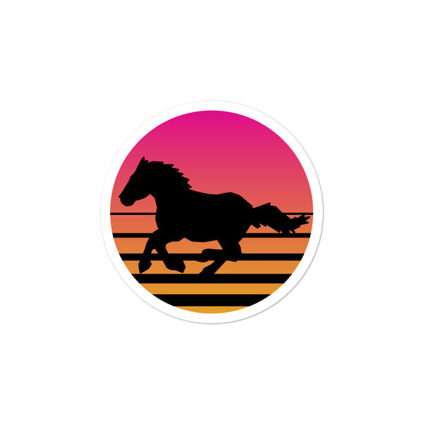 Retro Summer Sunset Ride Stickers
