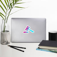 Retro Summer Gradient Gavel Sticker