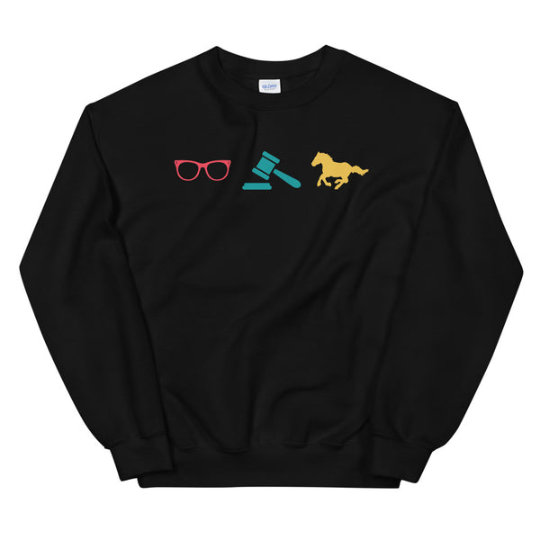 Law Nerd Icons Crew Neck Sweatshirt