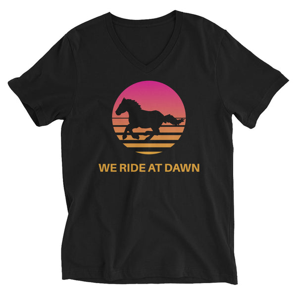 Retro Summer Sunset Ride Unisex V-Neck T-Shirt