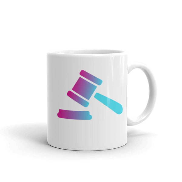 Retro Summer Gradient Gavel Mug