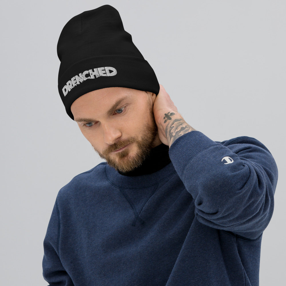 Cousteau Throw Back Beanie Black |  Expedition Drenched