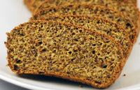 Low carb high fibre bread