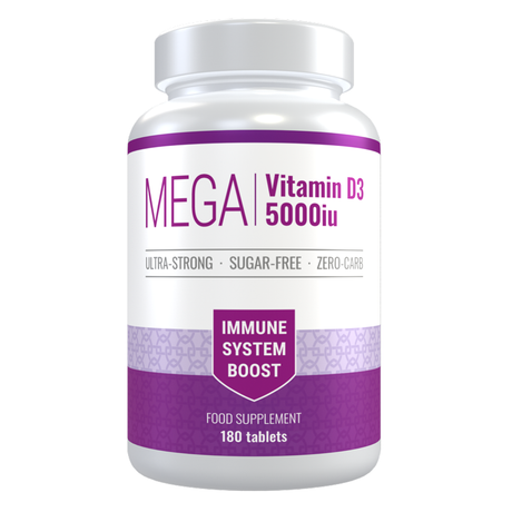 Vitamin D 5000iu Mega-Strong Immune System Boost, 6 Months Supply