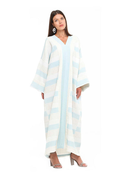 Blue Striped Petunia Kaftan