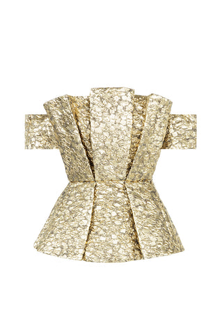 Oro Peplum Top