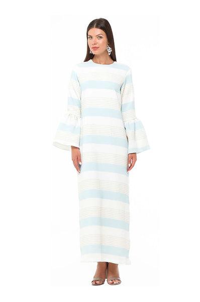Blue Striped Camelia Kaftan
