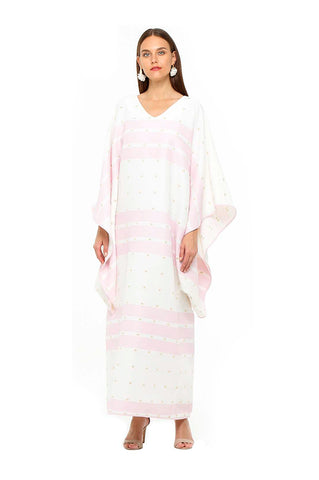 Pink Striped Antonia Kaftan
