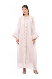 Pink Embroidered Isabella Kaftan