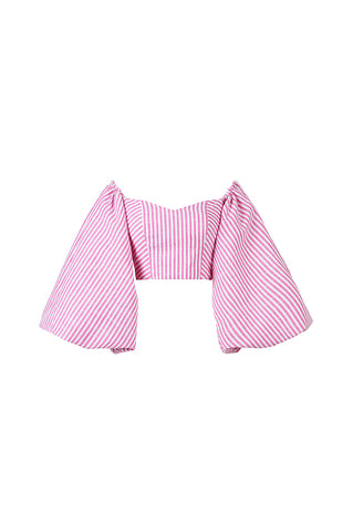 Pink Striped Globo Top