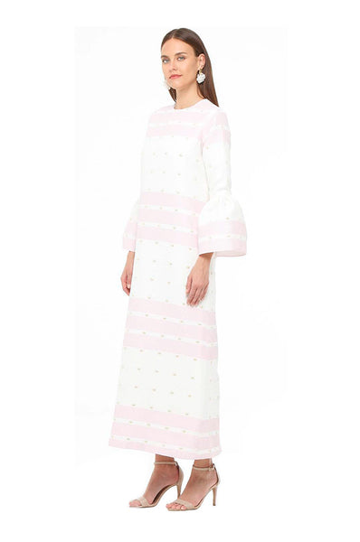 Pink Striped Camelia Kaftan