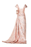 Rose Pencil Gown