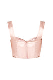Blush Silk Bustier
