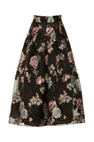 Magda Black Floral Skirt