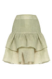 Green Ruffle Mini Skirt