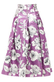 Purple Havana Midi Skirt