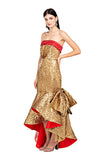 Gold Mermaid Bow Gown