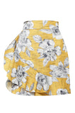 Yellow Havana Ruffle Skirt