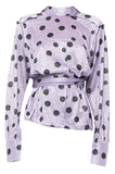 Purple Polka Envelope Blouse