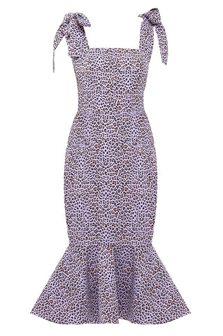 Purple Leopard Mermaid Dress