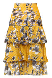 Yellow Bridget Ruffle Skirt