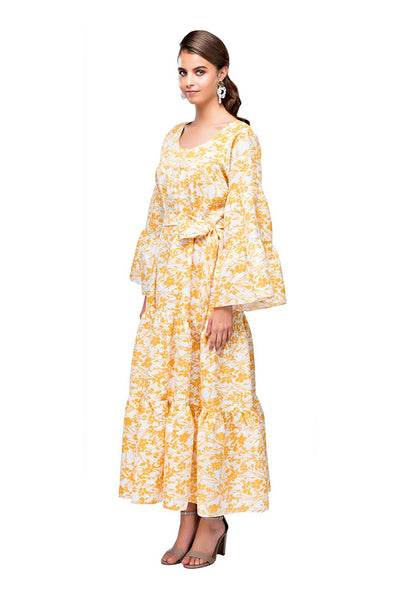 Yellow Tropical Belle Kaftan