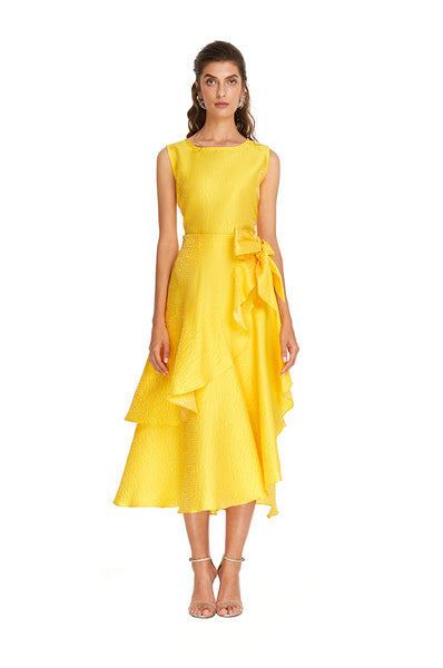 Yellow Sunshine Ruffle Skirt