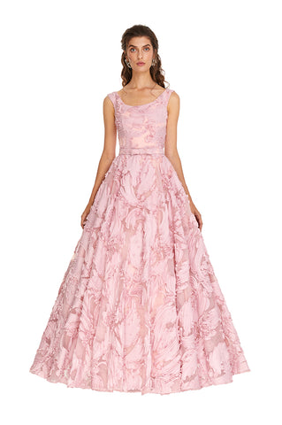 Fantasia Pink Organza Gown