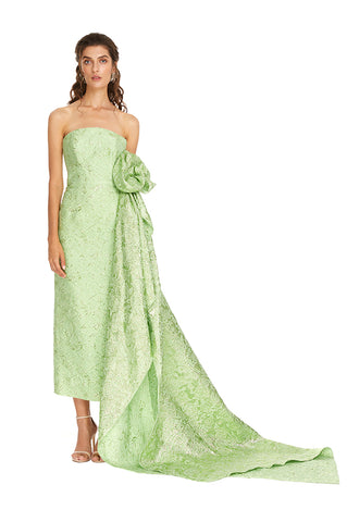 Green Side Flower Dress