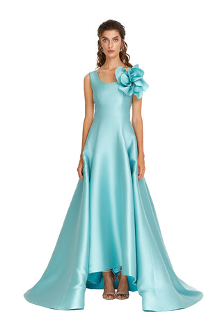 Teal Flower Gown