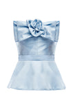 Sylvia Peplum Bow Top
