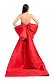Ruby Pencil Bow Gown