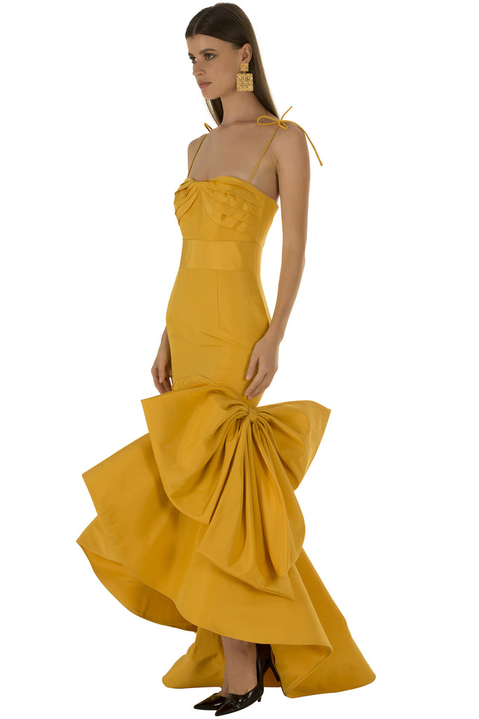 Yellow Mermaid Gown