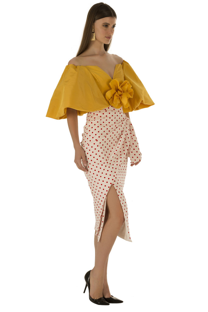 Yellow Bubble Flower Top