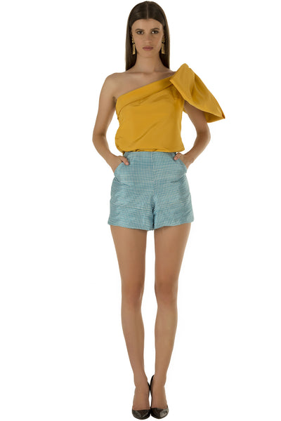 Yellow One Bow Top
