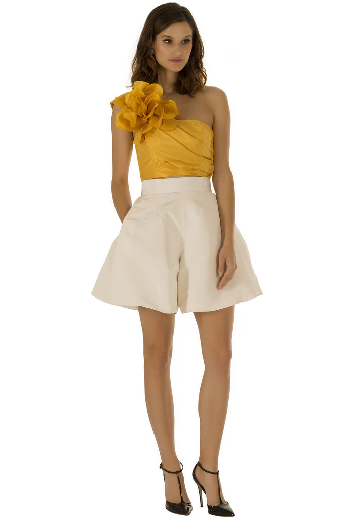 White Pleated Culottes