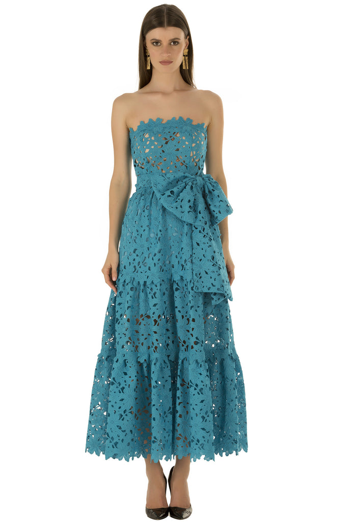 Blue Lace Crochet Prairie Dress