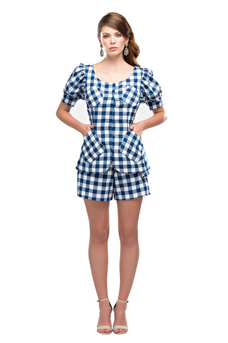 Royal Gingham Tunic