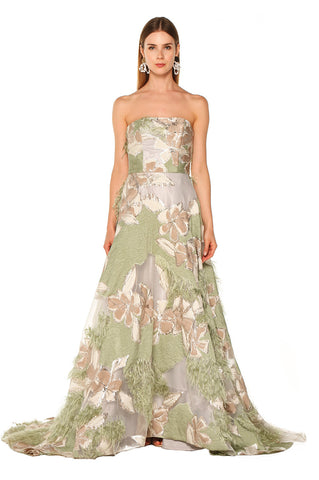 Green Feather Gown