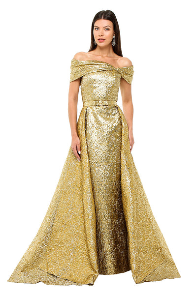 Gold Pearla Gown