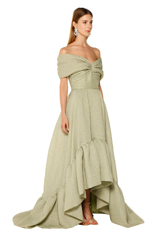 Green Off Shoulder Gown